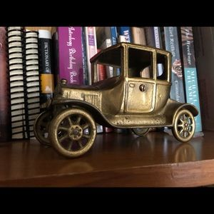 Vintage brass car